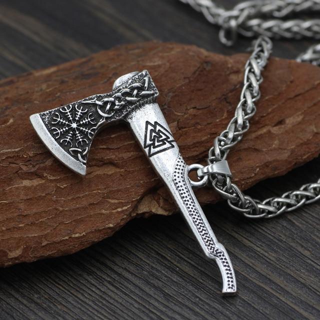 Men Viking Odin Mamen Nordic Viking Trinity Valknut Vegvisir Compass  Amulet Pendant Necklace Talisman Jewelry 2