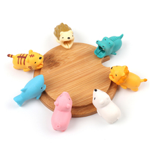 BROEYOUE Cable Bite Cute Animal Cable Protector For iPhone Organizer Pig Panda Rabbit Cat Winder Phone Holder Accessory Chompers cable bite protector for iphone cable winder phone holder accessory chompers rabbit dog cat animal doll model funny
