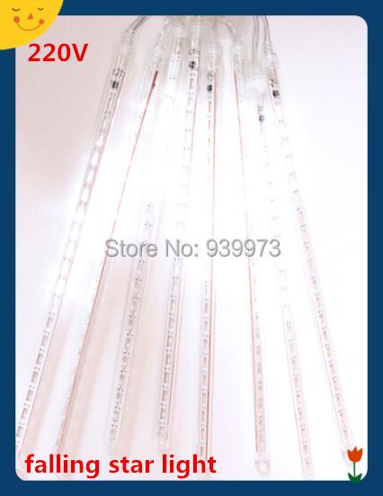 30 cm lluvia de meteoros lluvia tubos luz Led de la lámpara 100 - 240 V de la ue ee.uu. Plug navidad luz de la secuencia de la boda decoración del jardín envío gratis