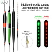 DONQL Smart LED Fishing Float Bite Alarm Fish Bite Bait Light Fluorescent Luminous Electronic Color Change Flotador Bobber Buoy