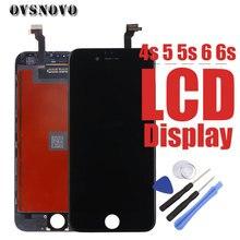 Купить онлайн AAA Класс ЖК-дисплей Дисплей планшета для iphone 4 4S 5 5S Сенсорный экран Замена тяга для iPhone 6 6S Pantalla Панель с инструментами