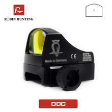 Mira óptica de punto rojo táctico con montura de carril de cola de milano de 20mm para Mira holográfica de Airsoft, mira de caza, punto rojo Docter