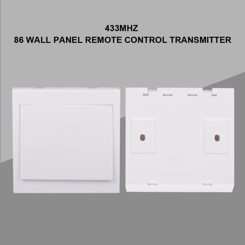 86 Wall Panel Smart Home Remote Control Switch 1 Button Transmitter 433MHz RF Wireless RF TX Living Room Bedroom Light Corridor qiachip 433mhz 86 wall switch 2 button remote control switch wireless transmitter switch room for smart home lamp light led bulb