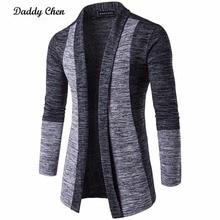 Casual Men Jacket Coat Patchwork Long Sleeve
