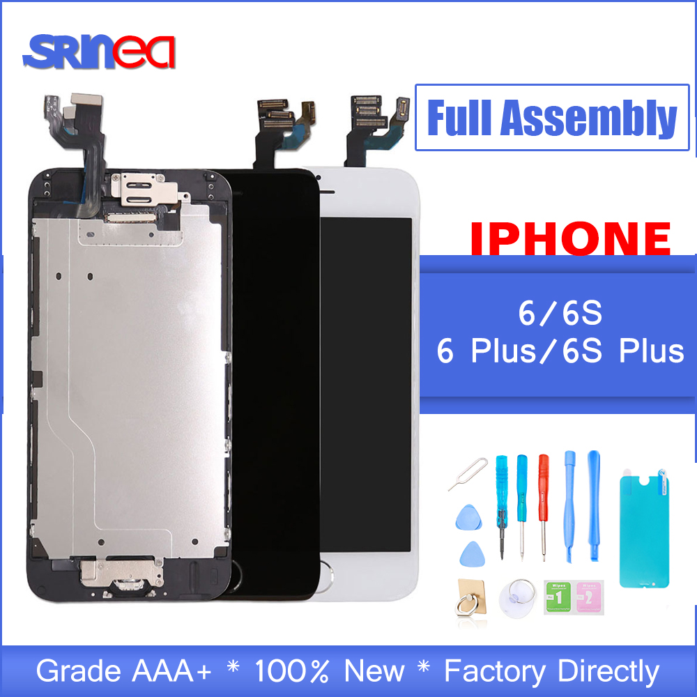 Full Set Screen For IPhone 6 S P Plus 6G 6S Screen LCD Replacement Display Apple I Phone 6P 6SP Complete Front Camera Speaker