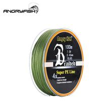 ANGRYFISH Diominate PE Line 4 Strands Braided 100m/109yds Super Strong Fishing Line 10LB-80LB