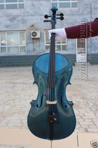 4/4 New  Electric cello Powerful Sound blue  color  1# new 4 4 electric cello powerful sound ebony parts end pin tailpiece peg 1468