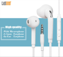 10pcs/lot for S6 Earphone In-ear Earpiece with Microphone for MP3 MP4 Samsung Galaxy S7 S6 Edge for S8 Earphone White 1 2m 3 5mm in ear wire control noodle stereo headset earphone portable ear phone earpiece with mic for samsung galaxy s6 s7 edge