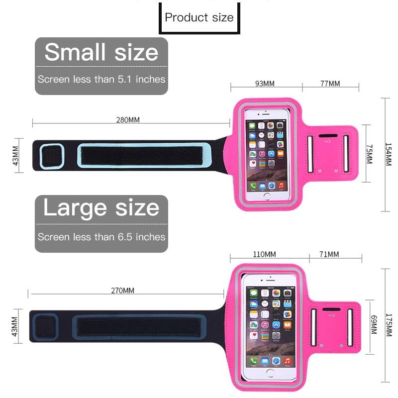 Спортивная водонепроницаемая повязка для бега 4,0 ~ 6,5 дюймов, чехол для мобильного телефона, чехол для iPhone 7 8 Plus, samsung Xiaomi, чехлы для телефонов Huawei, повязка на руку