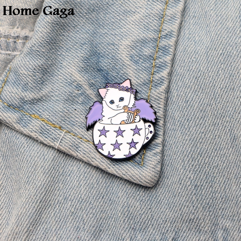 Home & Garden 10pcs/lot Homegaga Music Angle Cat Zinc Tie Cartoon Funny Pins Backpack Clothes Brooches For Men Women Hat Badges Medals D1375 Badges