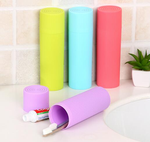 2pcs/set New Fashion Multifunction Use Travel Toothbrush holder Portable Tooth Mug Toothpaste Cup Bath Travel Accessories Set