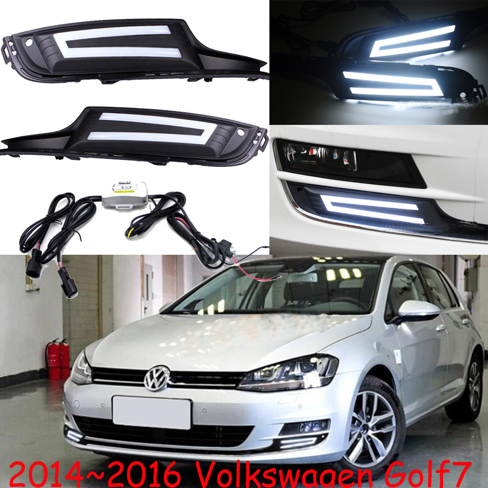 Car-styling,Golf7 daytime light,2014~2016,chrome,LED,Free ship!2pcs,Golf7 fog light,car-covers,Gol,Golf7,Golf 7 simulation mini golf course display toy set with golf club ball flag