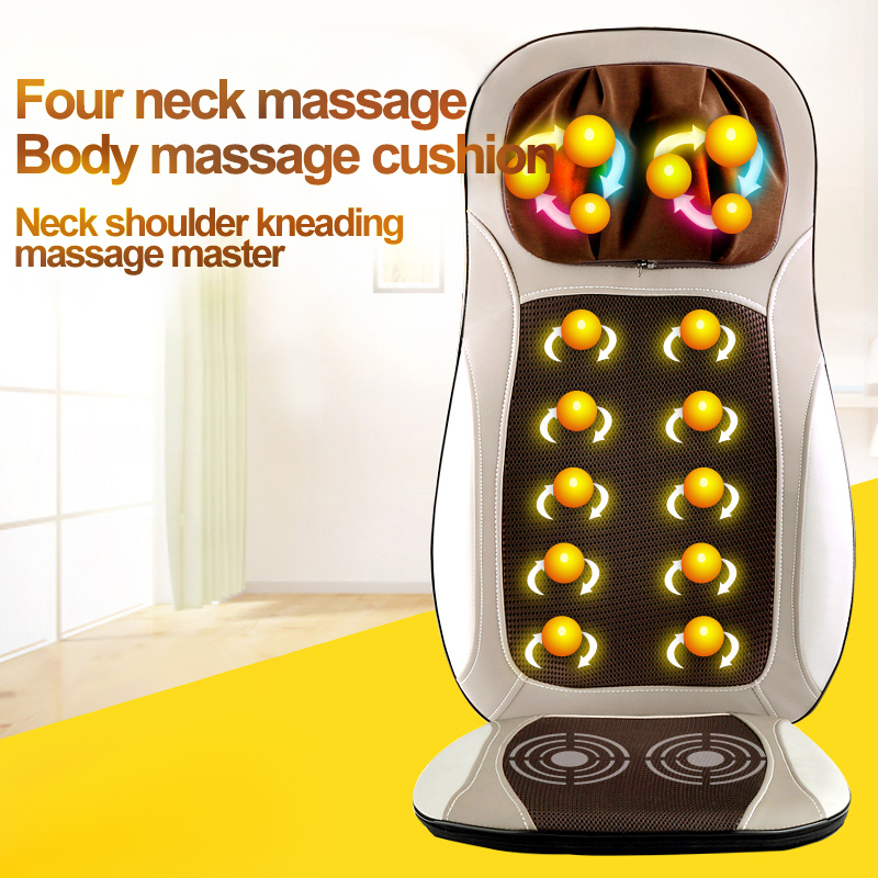 Massage Relaxation Electric vibrator Chair Home Office Full Body Relax Back Neck massage roller Seat Heat Shiatsu massagem health care back body massage mat home and car massage chair electric infrared massage chair for sale