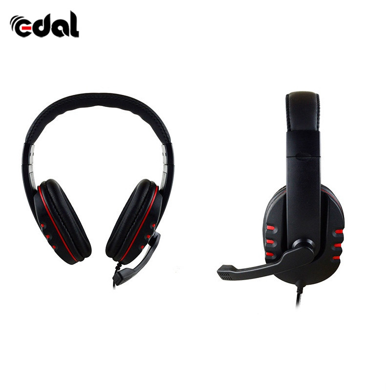 Edal Stereo Headphone Headset Casque Deep Bass Computer Gaming Headset with Mic for PS4/XBOX-ONE/PC Game Earphone