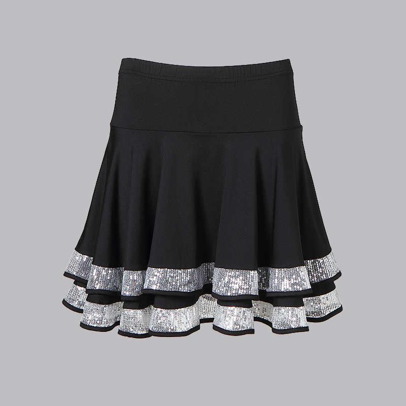 Новая латинская юбка для танцев для Для женщин двойной Дизайн юбки танцевальные костюмы для взрослых латинских танцев практика юбки Performamnce танцевальная одежда
