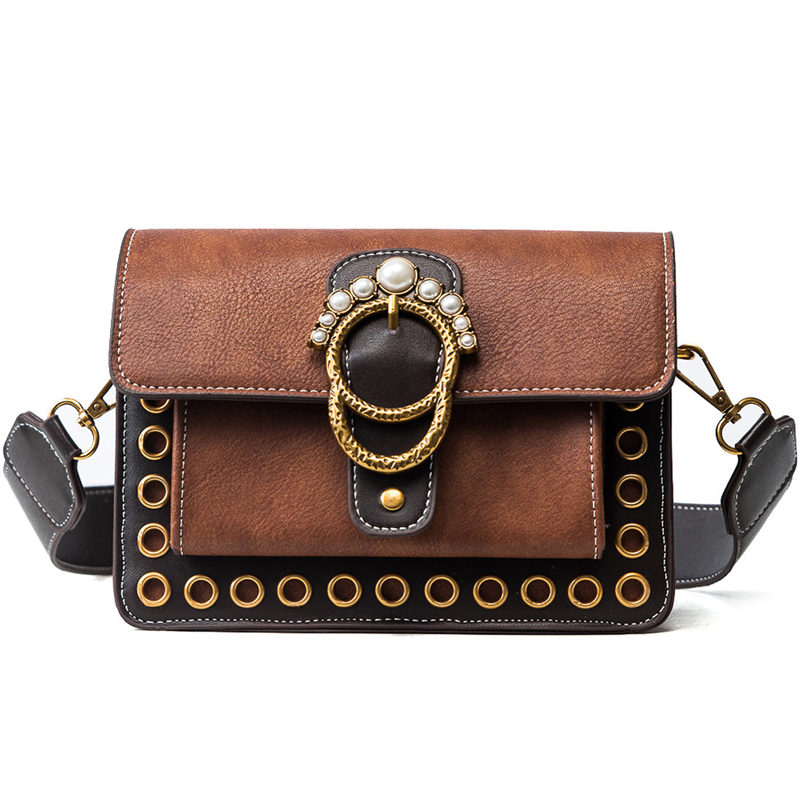 New wave Korean ladies ladies messenger bags Pearl inlay beautifully decorated sutures refined Calfskin women messenger bags stylish and luxurious oval crossbody bags for women soft lychee calfskin with unique locks decorated women messenger bags