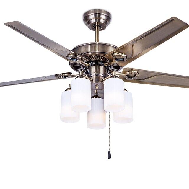 Deckenventilator Europäischen Stil Retro Eisen Blatt Esszimmer Schlafzimmer  Deckenventilator Lampe Haushalt FS12