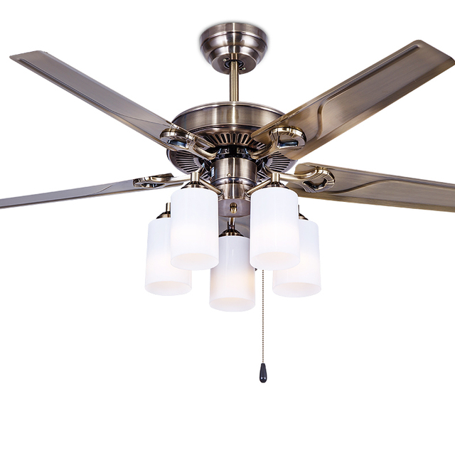 Plafond ventilator Europese stijl retro ijzer blad eetkamer ...
