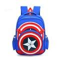 Новый мстители капитан америка мультфильм стиль ранцы школьные рюкзаки для детей дети сумки на ремне mochila infantil ZZ214