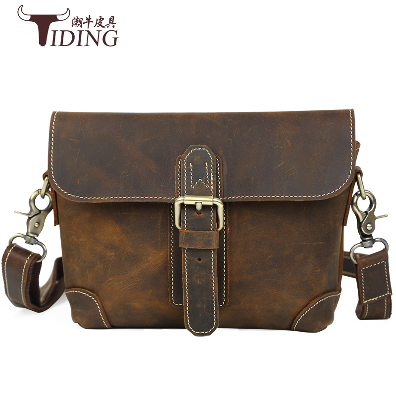 Hot selling Men bag Crazy horse crazy horse  Leather bags men Messenger Bags crossbody Shoulder bags men's travel bag briefcase ms crazy horse genuine leather men bag men s leather bag men messenger bags shoulder crossbody bags man handbag briefcase tw2011