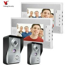 Yobang Security 7 Inch Video Door Phone Doorbell video Intercom 2 camera 2-monitor Night Vision door bell camera video Intercom