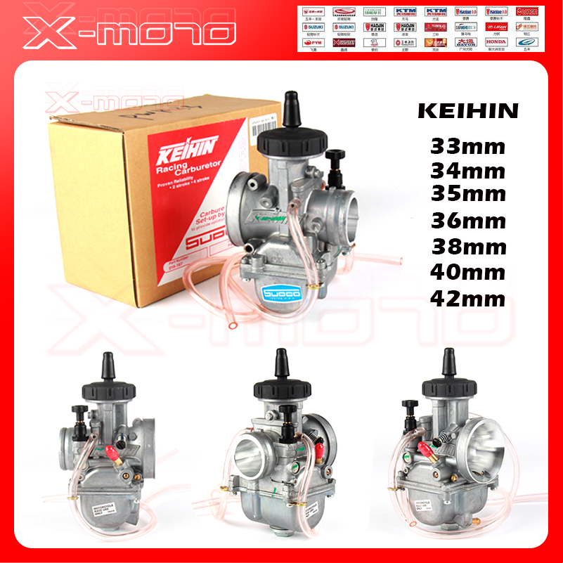 PWK Carburetor 33 34 35 36 38 40 42mm Racing Parts Scooters Dirt Bike for KEIHIN ATV with Power Jet Used 250cc Motorcycle two cylinder pd26 26mm carburetor 250cc for honda 250cc motorcycle dirt bike atv hk 101