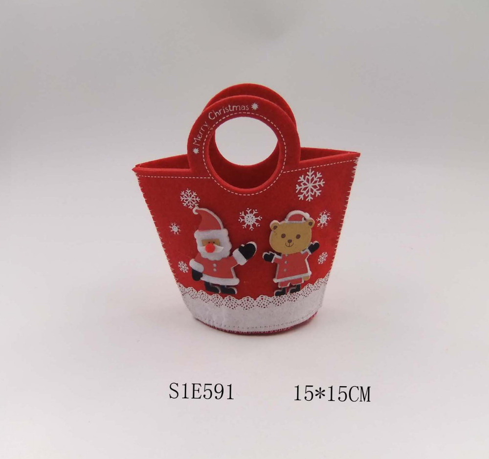 4 pcs/set Small Cute Christmas Gift Bags Candy Holders