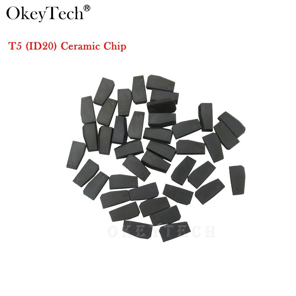 Okeytech 50pcs lot Wholesale High Quality Car Key Chip T5 ID20 Chip Carbon Ceramic Transponder ID