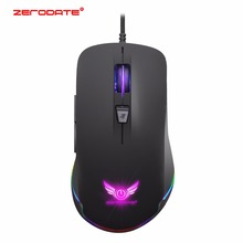 Wired  Optical Gaming Mouse USB Rechargeable Mouse mice RGB Light model 7 Button 4800DPI for Laptop Computer Mouse цена и фото