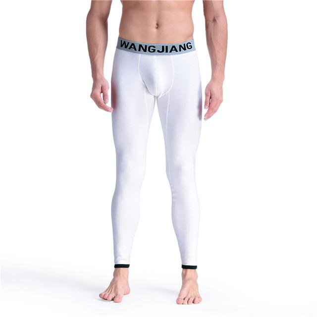 2017 Nueva Impresión de la ropa interior térmica de invierno pijamas calientes Sexy bottoms sueño dormir Moda pantalones Hombres long john calzoncillos