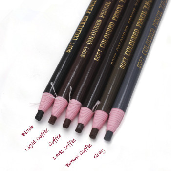 1PCS Waterproof Eyebrow Pencil Free Cutting Natural Long Lasting Paint Black Brown Coffee Microblading Permanent Eyebrow Make Up