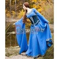 Леди озера Средневековый Центральной Европы платье для взрослых Для женщин Косплэй костюм Индивидуальный заказ D1029