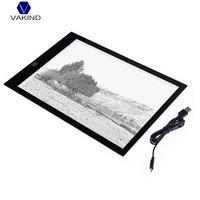 VAKIND Ultra-Thin A4 LED Light Copy Painting Drawing Board Touch Type Animation Copy Tracing Pad Light Box Tablet Dimmable