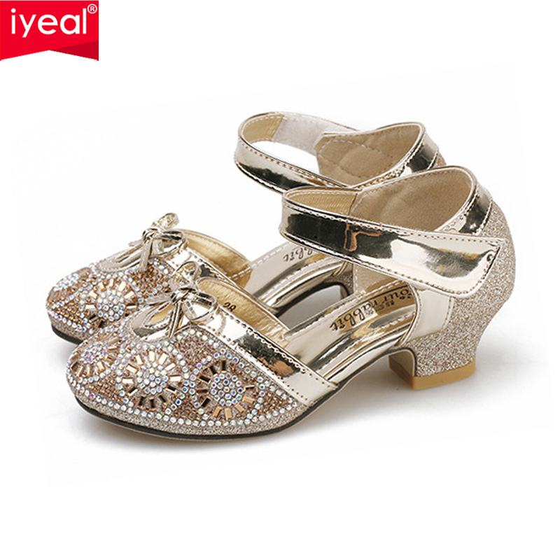IYEAL Girls Leather Wedding Shoes Baby Childrens Sequins Princess Kids High Heels Dress Party Shoes for GirlsIYEAL Girls Leather Wedding Shoes Baby Childrens Sequins Princess Kids High Heels Dress Party Shoes for Girls
