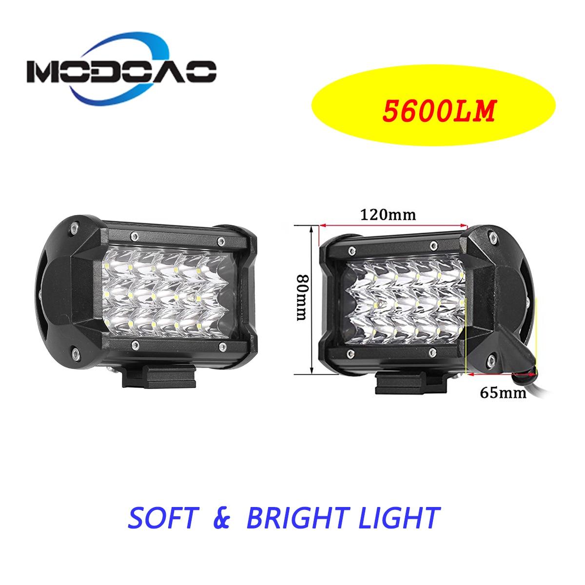 Nova 54 W 5D alto-brilho LED holofotes luz de trabalho para veículos off-road ATV carro motocicleta barco 6000 K 2 pcs melhor à frente
