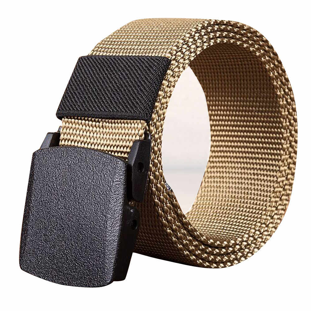 Hommes ceinture unisexe haut tendance qualité Sports de plein air Nylon automatique boucle ceinture toile Web ceinture éblouissante 30H