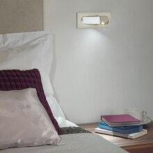 LED Nordic Alaşım Akrilik Ayarlanabilir LED Duvar lambası Duvar Işık kablosuz duvar lambası Başucu lambası Bedroom Anahtarı ile Corrdor çalışma