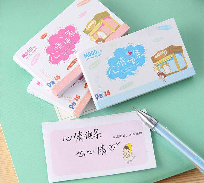 Kawaii mini note Post it Cartoon Sticky Notes Cute Memo Pads Stickers Paper Notepad Stationery Papeleria School Supplies notes