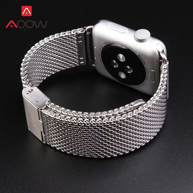 316L Stainless Steel Watchband for Apple Watch 38mm 40mm 42mm 44mm Replace Bracelet Band Strap for iWatch 1 2 3 4 Black Gold