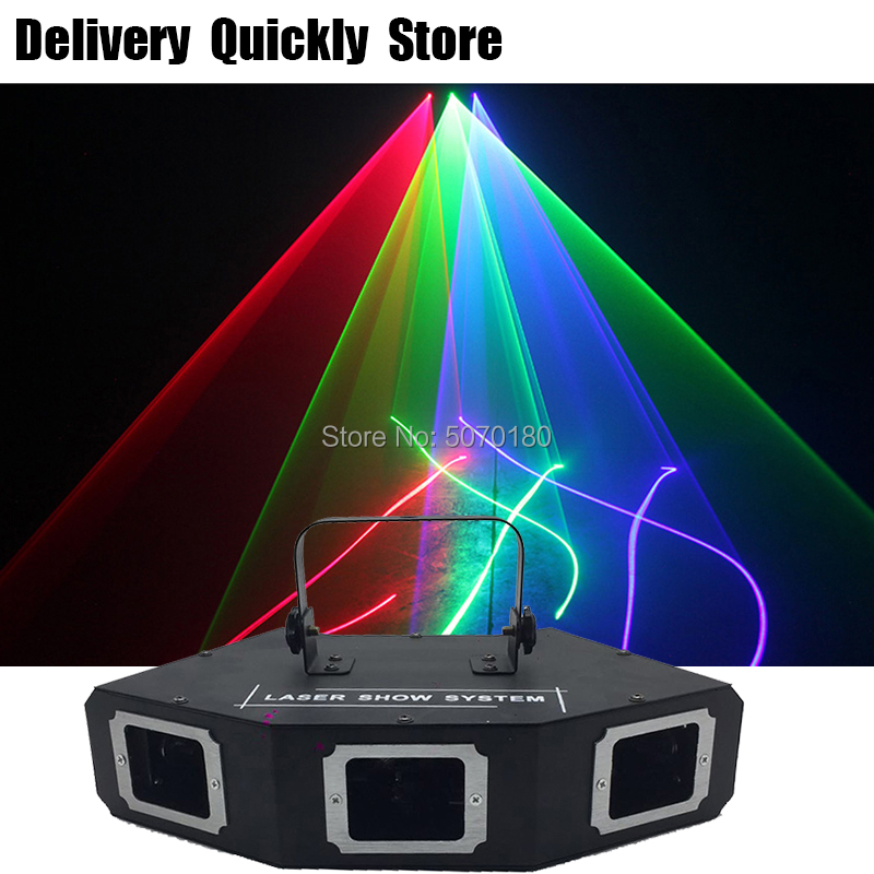 Sector Lijn Scanner disco laser 3Lens RGB Lazer professinol DJ Dance Bar Koffie Xmas Home Party Disco Effect Licht systeem Tonen - 2