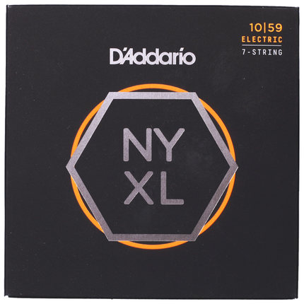 D'Addario NYXL Nickel Wound Electric Guitar Strings Set Daddario 7-Strings / 8-Strings d addario daddario exl110 american made nickel wound electric guitar strings regular light 10 46