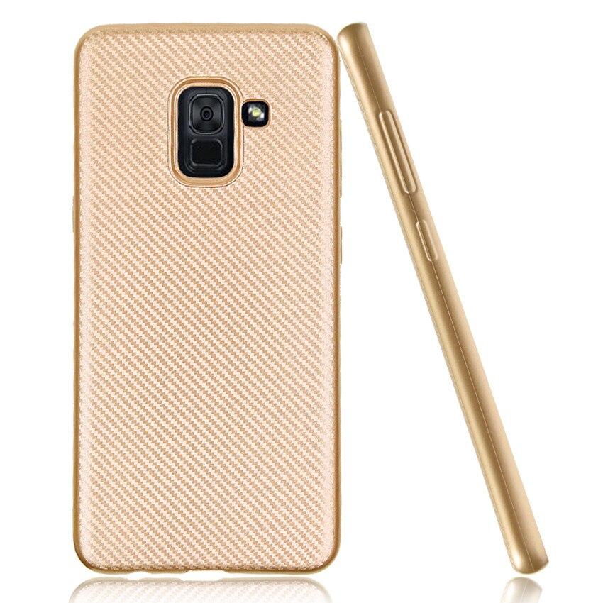 Для Samsung Galaxy A5 2018 чехол тонкое розовое золото анти стук углерода Волокно ТПУ Мягкая обложка для Samsung Galaxy a5 (2018) a530f