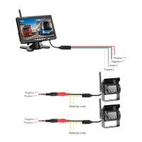Автомобиль 2 шт. резервного заднего парковка реверсивном Камера + 1 шт. 7 дюймов монитор Экран Водонепроницаемый для грузовик с прицепом/ RV