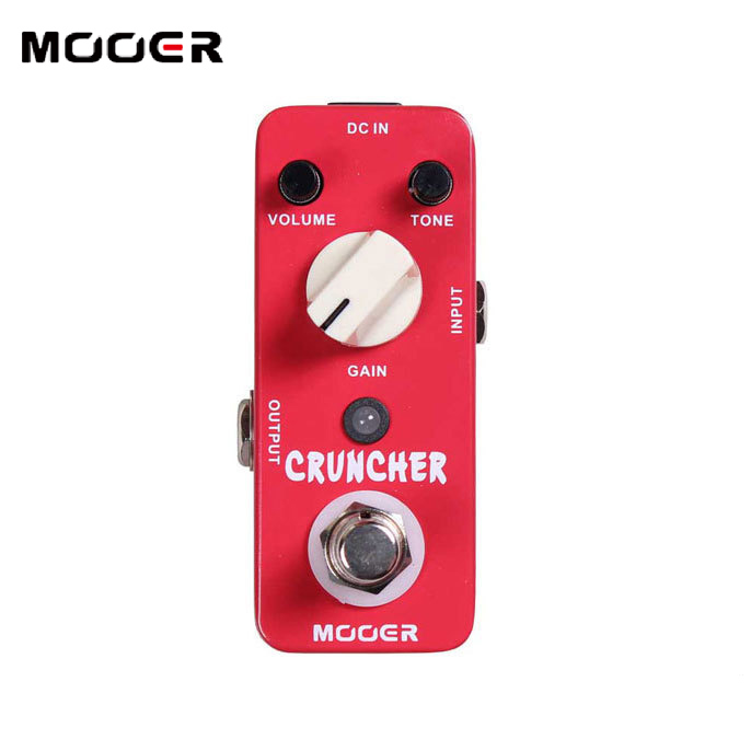 MOOER Cruncher High-gain Distortion Effects Pedal  with powerful mid frequency Guitar effect pedal mooer mds3 cruncher distortion electric guitar effect pedal true bypass with free connector and footswitch topper
