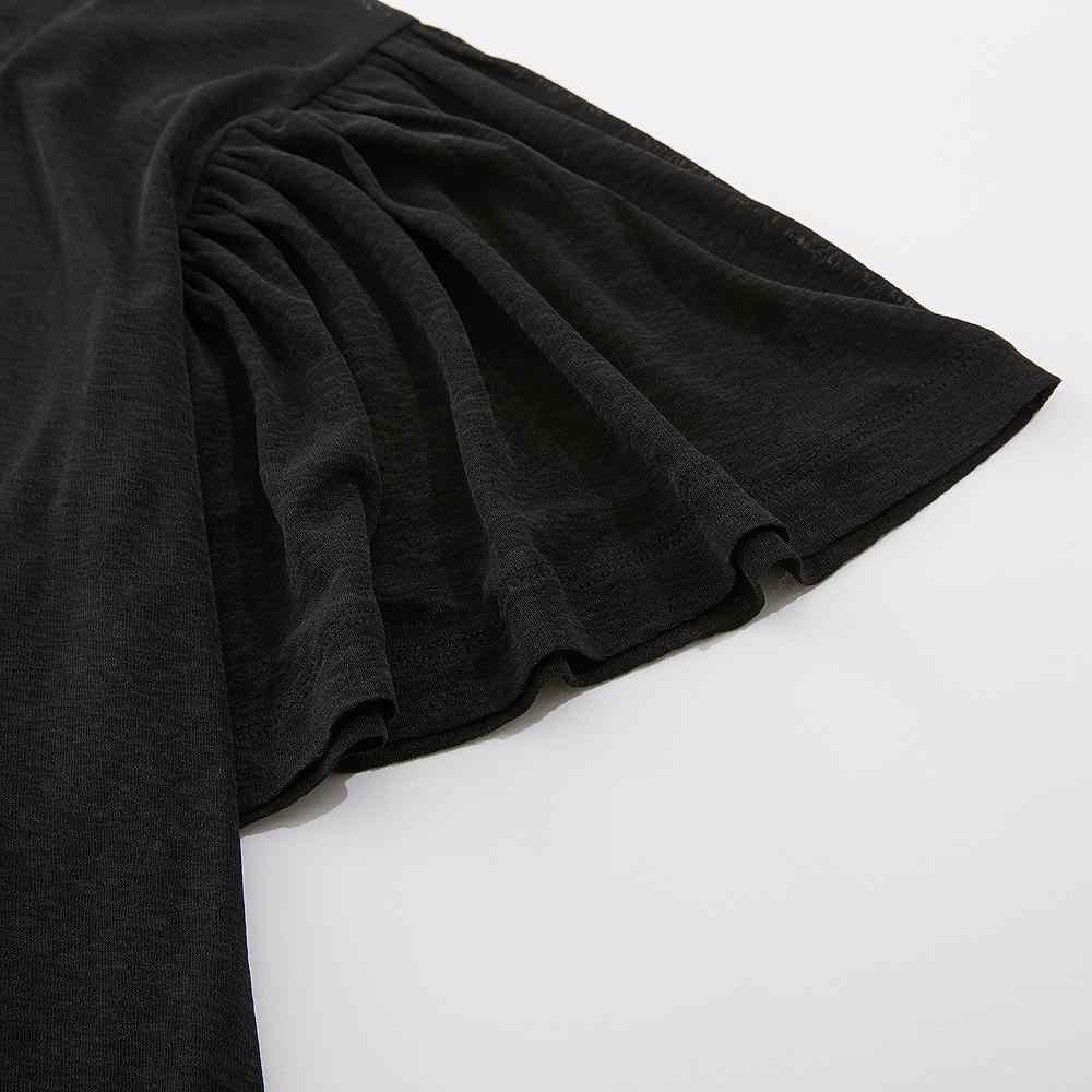 Metersbonwe marca tuta sportiva delle donne allentate sottile svasato maniche con temperamento top