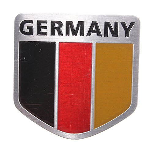 AUTO STICKER DECORATION IN METAL DIAMOND For the Germany flag <font><b>Deutschland</b></font> image