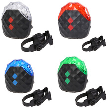 Hot Bike light mountain road Bike bicycle lights Colorful LightRear Tail Safety Warning 5 LED+ 2 Laser LED Cycling Flash Light