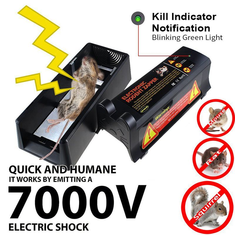 AÏE Électrocuter Électronique Rap Souris Piège Souris Rongeurs Haute Tension US UK Plug Adaptateur Batterie Puissance Tueur Efficace pour Rat