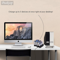 USB Charging Station Dock Stand Holder 6 Ports 2 4A Multi Function Universal USB Charger For