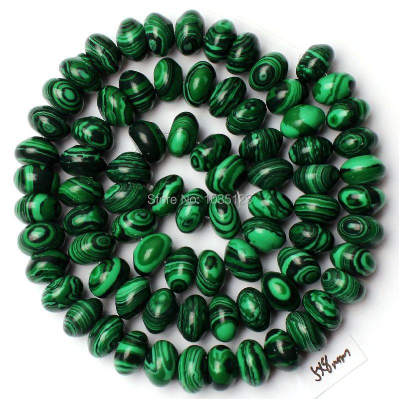 Free Shipping 5x8mm Imitation Green Malachite Rondelle Shape Loose Beads Strand 15 DIY Creative Jewellery Making w2270